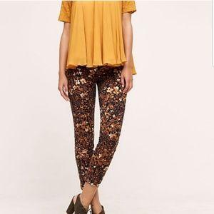 Anthropologie Essential Slim Pants in 70s Floral